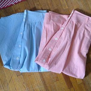 Vintage High Waist Button Down Skirts